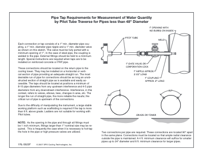 """Pipe Tap Requirements (up to 48"""" diameter)"""