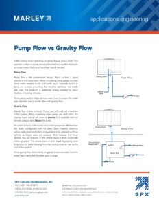 Pump Flow vs. Gravity Flow