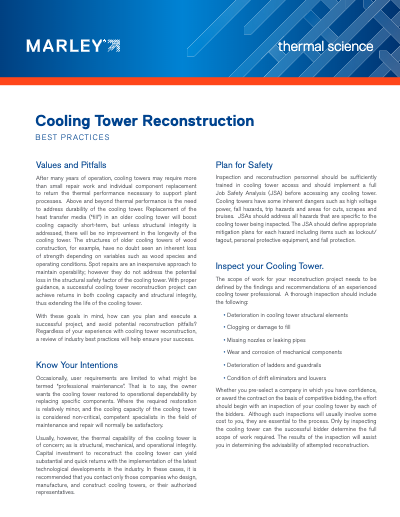 Cooling Tower Reconstruction Best Practices