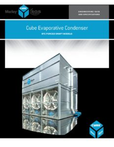 Cube BTC Evap Condenser Engineering Data and Specifications – SGS