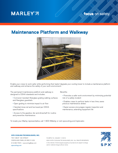 Maintenance Platform and Walkway