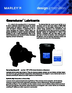 Geareducer Lubricants