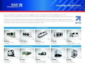 SGS Refrigeration Product Line
