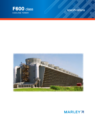Class F600 Crossflow Cooling Tower Specifications