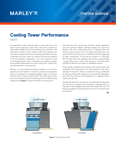 Cooling Tower Performance - Drift