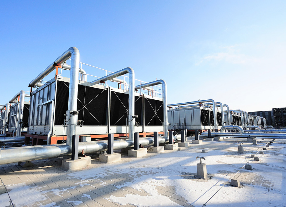 Data center cooling towers